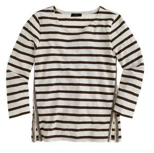 J.Crew 3/4 Sleeve Sailor Stripe with Sequin Detail